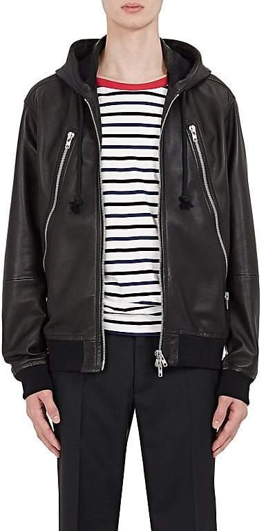 Maison Margiela Men's Leather Hooded Jacket