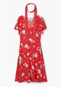Lily & Lionel Love Heart Floral Lea Dress - xsmall - Red