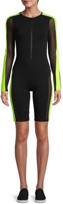 Electric Yoga Mesh Cotton-Blend Racer Suit