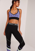 Missguided Active Space Dye Sports Bra Blue