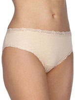 Cotillion Cotton Lace-Trim Bikini Panty