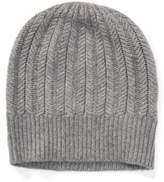 Ralph Lauren Wool-Cashmere Herringbone Hat Grey Heather One Size
