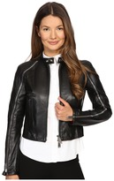 DSQUARED2 Lamb Leather Lone Star Leather Jacket Women's Coat