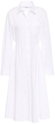 Each X Other Pleated Cotton-poplin Shirt Dress