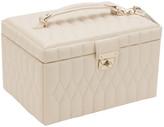 Wolf Caroline Medium Jewellery Box with Travel Case - Ivory
