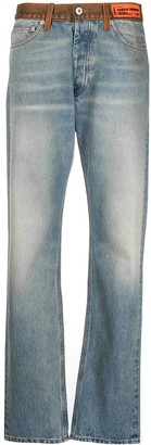 Heron Preston High-Rise Faded-Effect Jeans