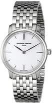 Frederique Constant Women's FC200S1S36B Slim Line Analog Display Swiss Quartz Silver Watch