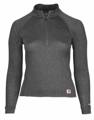 Carhartt Women's Force Heavyweight Quarter-Zip Thermal Base Layer Long Sleeve Shirt