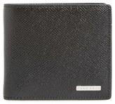 BOSS 'Signature' Calfskin Leather Bifold Wallet