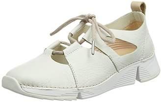 Clarks Women's Tri Sense Low-Top Sneakers, White (White Leather)