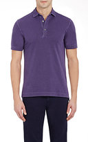Barneys New York MEN'S PIQUÉ POLO SHIRT-PURPLE SIZE M