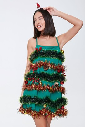 Forever 21 Christmas Tree Holiday Dress