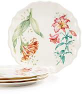 Lenox Butterfly Meadow Set of 4 Melamine Salad Plates