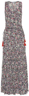 Poupette St Barth Bety floral georgette maxi dress