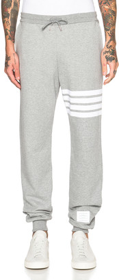 Thom Browne Cotton Sweatpants in Light Heather Grey | FWRD