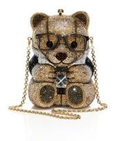 Judith Leiber Spencer Crystal Teddy Bear Minaudiere