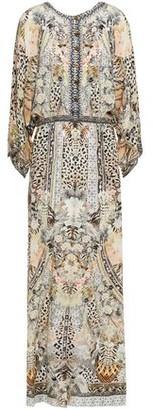 Camilla Crystal-embellished Printed Silk Crepe De Chine Maxi Dress