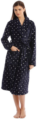 S.O.H.O New York Textured Robe in Navy