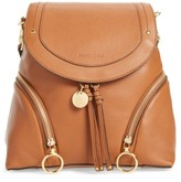See by Chloe Leather Backpack - Brown