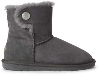 Emu Charcoal Ora Shearling-Lined Suede Boots