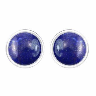 Tishavi Natural Lapis Earrings Studs Sterling Silver for Her Women Mom Wife Girlfriend Teens