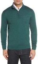 John W. Nordstrom Merino Wool Quarter Zip Sweater