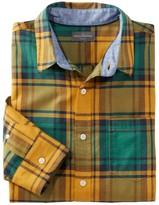 L.L. Bean L.L.Bean Men's Signature Madras Shirt, Long-Sleeve, Plaid