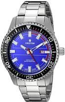 Croton Men's CA301289SSBL Analog Display Quartz Silver Watch