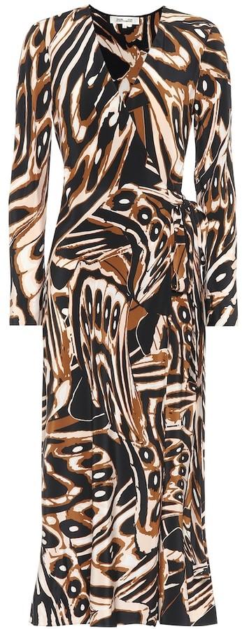 Diane von Furstenberg Tilly printed silk midi wrap dress