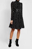 Giambattista Valli Printed Dress with Velvet and Silk