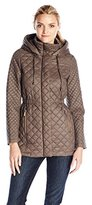 French Connection Women's Marykate Quilted Jacket with Hood