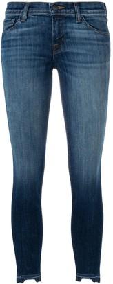 J Brand Faded Detail Skinny Jeans