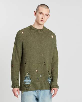 One Teaspoon Destroyed Fisherman's Knit Sweater