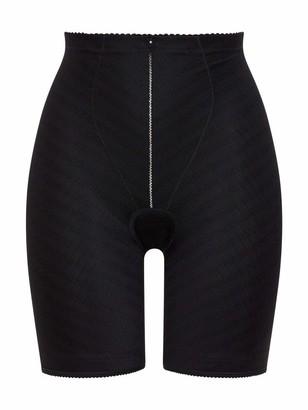 Felina 8276-4 Women's Weftloc Black Firm/Medium Control Slimming Shaping High Waist Long Leg Brief XLarge (Brand Size 34)