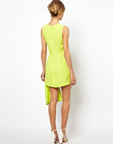 Asos Exclusive Shift Dress With Drape Side