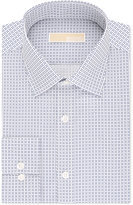 MICHAEL Michael Kors Men's Classic-Fit Non-Iron Navy Print Dress Shirt