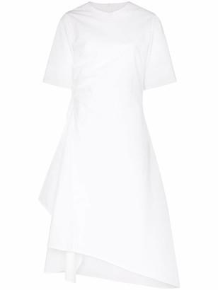 Lvir Unbalance asymmetric cotton dress