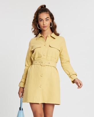 Missguided Smart Utility Denim Dress