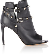 Valentino Women's Rockstud Ankle Booties-BLACK