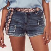 Lauren Conrad Women's Ripped Patch Jean Shorts