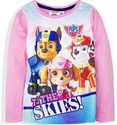 Nickelodeon Girl's Paw Patrol To The Skies Team Regular Fit T - Shirt,(Manufacturer Size: 4 Years)