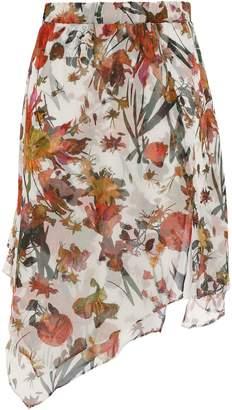 IRO Asymmetric Silk-georgette Skirt