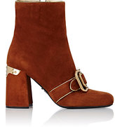 Prada WOMEN'S BUCKLE-DETAILED ANKLE BOOTS