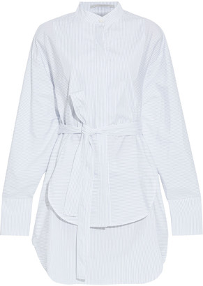 Stella McCartney Audrina Layered Pinstriped Cotton-poplin Mini Shirt Dress