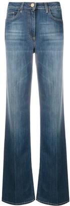 Elisabetta Franchi High-Waisted Wide Leg Jeans