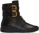 Giuseppe Zanotti Black Double-Buckle Boots