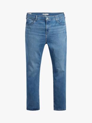 Levi's Plus 724 High Rise Straight Jeans, Blue