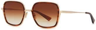 Christian Roth CR-101 Gold-tone Square-frame Sunglasses