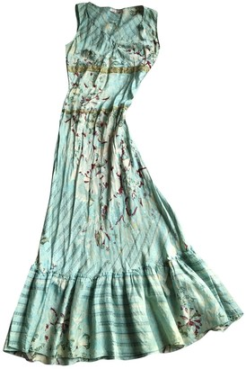 Stella Forest Green Silk Dress for Women
