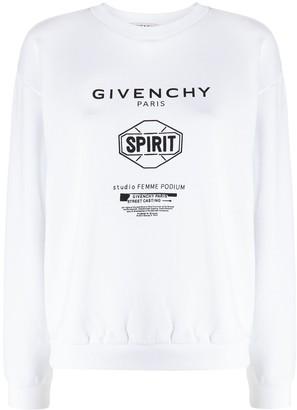 Givenchy Spirit print crewneck sweatshirt